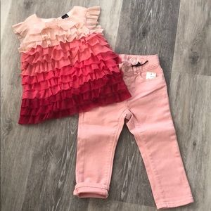 Gap Jeans and top Set